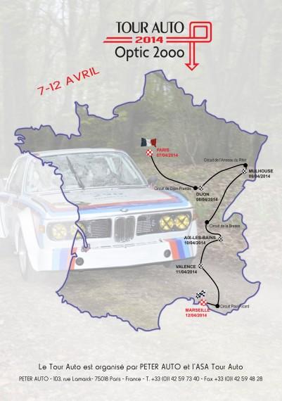 Tour Optic 2000 2014 - tracé