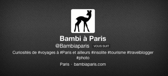 Bambi à Paris Twitter