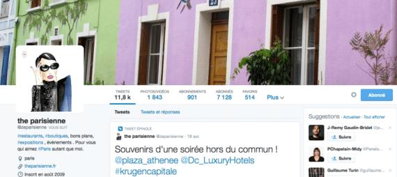 Profil Twitter The Parisiennes