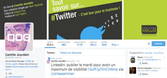 Profil Twitter Camille Jourdain
