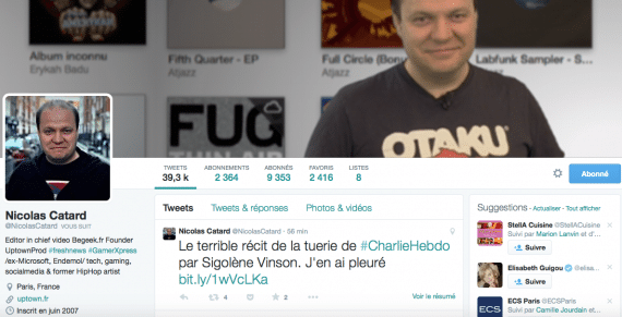 Profil Twitter Nicolas Catard