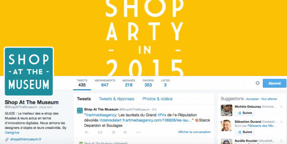 Profil Twitter Shop at the museum