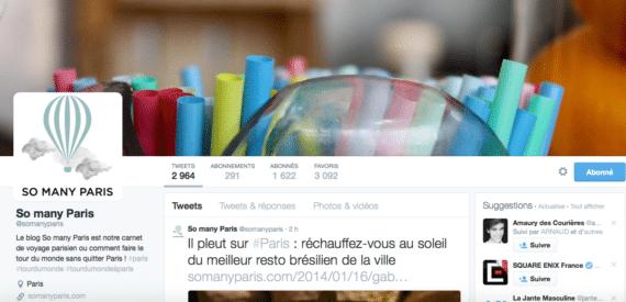 Profil Twitter So Many Paris