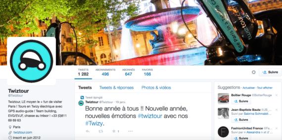 Profil Twitter Twiztour