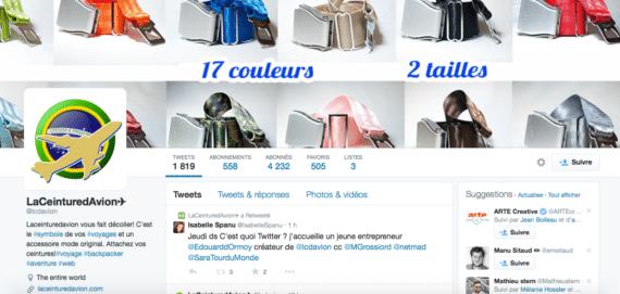 profil Twitter La ceinture d'avion