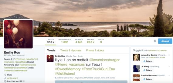 Profil Twitter Emilie Ros bis