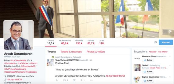 Profil Twitter Arash Derambarsh 2
