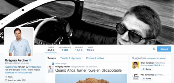 Profil Twitter Gregory Ascher