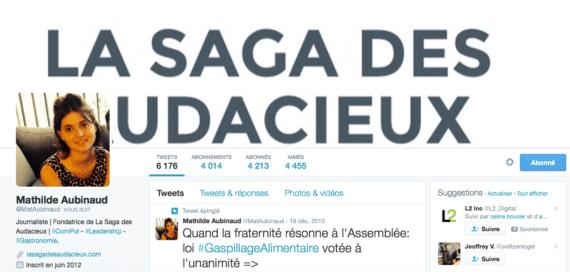 Profil Twitter Mathilde Aubinaud