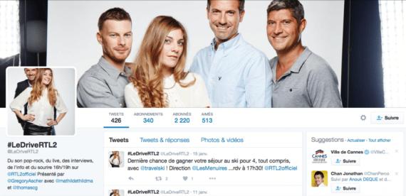 Profil Twitter le Drive RTL2