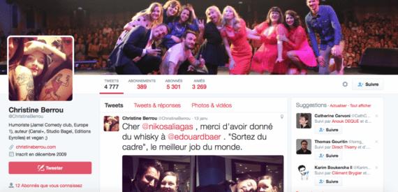 Profil Twitter Christine Berrou