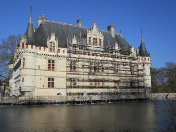 Restauration du Château d'Azay-le-Rideau, Indre-et-Loire © Courtesy