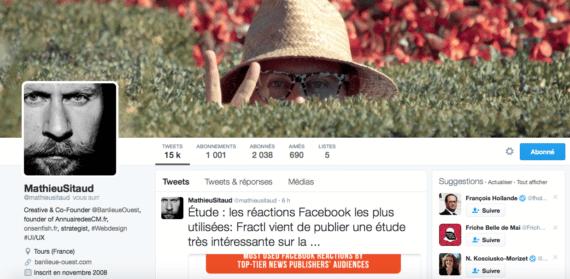 Profil Twitter Mathieu Sitaud