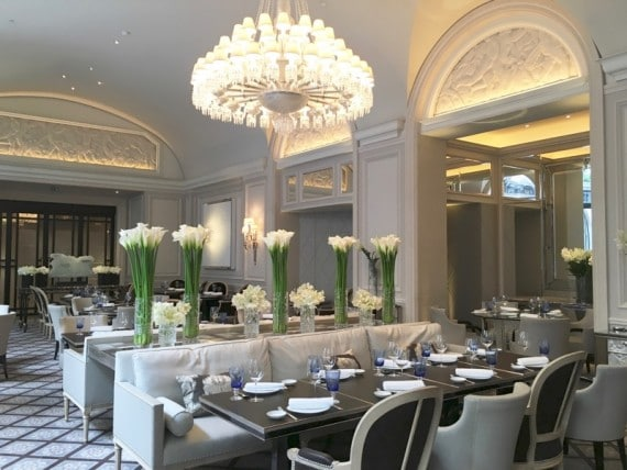 Restaurant Le george Four seasons paris 34 Photo FB