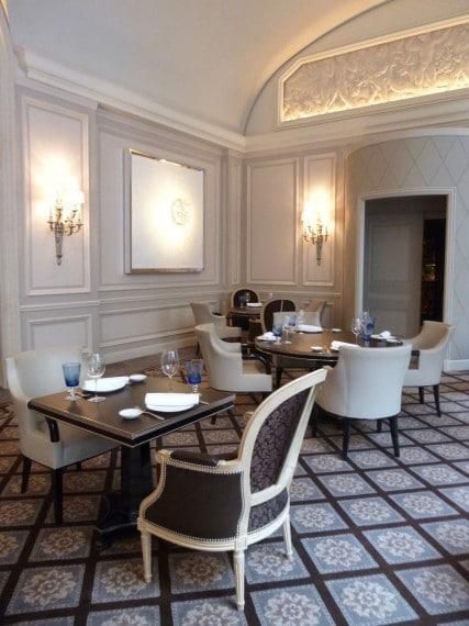 Restaurant Le george Four seasons paris 7
