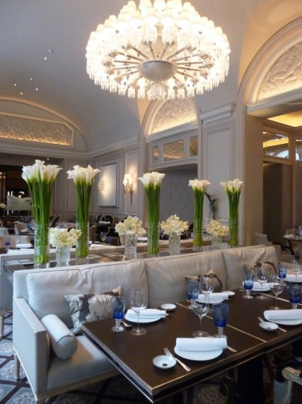 Restaurant Le george Four seasons paris 8
