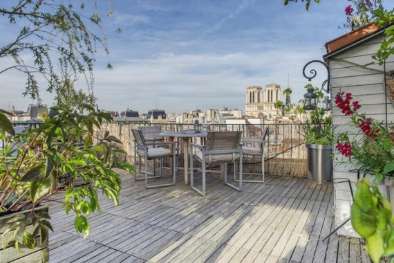 Rooftop avec vue sur Notre Dame de Paris