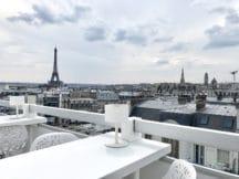 La Terr'Ice Marignan, un rooftop chic «Moët & Chandon» avec vue sur la Tour Eiffel
